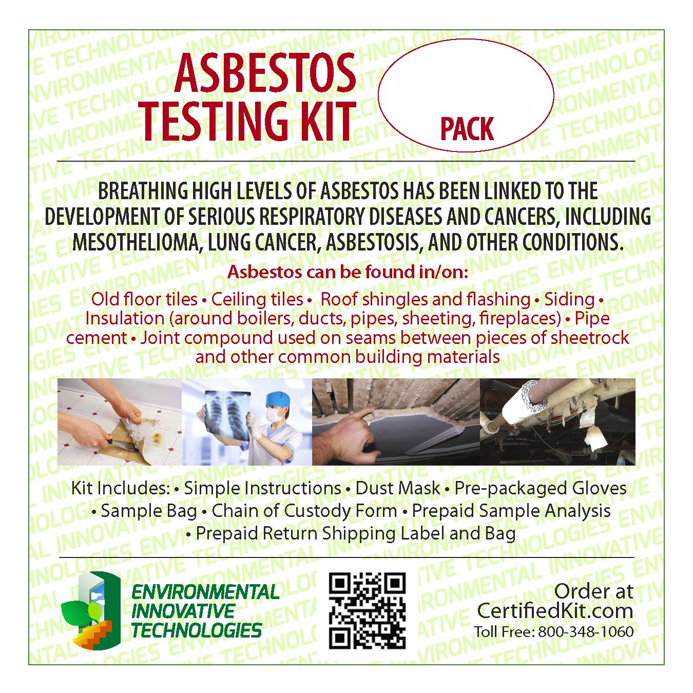 asbestos test kit. Black Bedroom Furniture Sets. Home Design Ideas