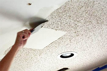 Test popcorn ceiling for asbestos for How to remove popcorn ceiling without water